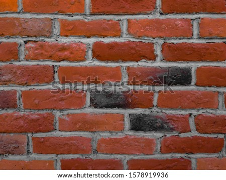 atmospheric background texture of an old brick wall #1578919936