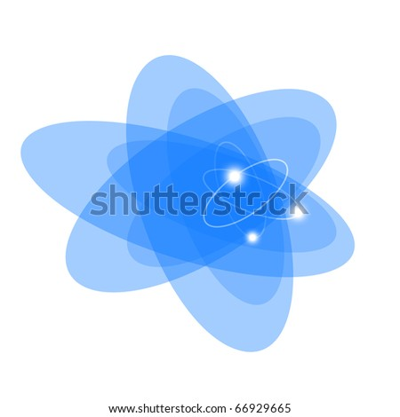 Atom. Abstract background for technology, business, computer or electronics products. Isolated over white background.