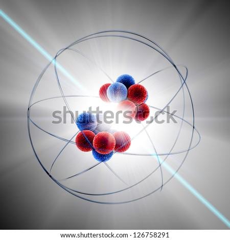 Atom fission