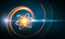 Atom molecule abstract