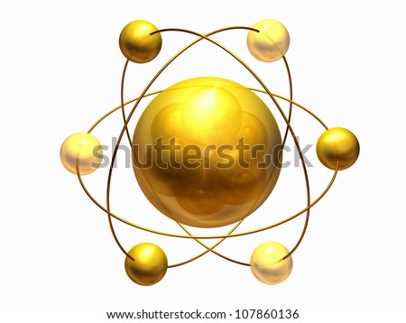 Atom with Neutrons, Protons and Higgs particle