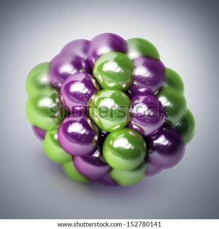 atomic molecule. High resolution 3d render