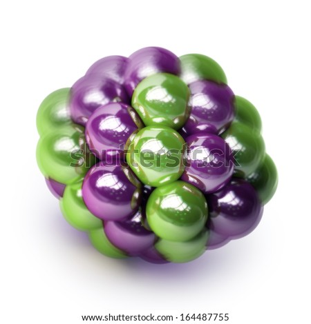 atomic molecule isolated on white background High resolution 3d