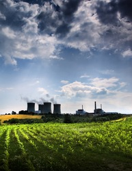 Atomic power station and field