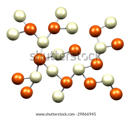 Atomic Science Molecules Isolated on a White Background