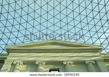 Atrium of the British Museum in London, England