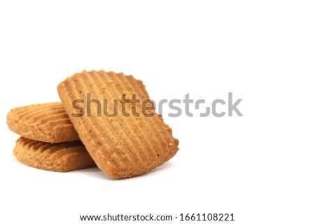 Atta biscuit, cookies, white flour biscuit - Indian cooking  Photo stock ©