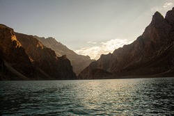 Attabad Lake Gojal Valley Hunza Gilgit Baltistan Pakistan