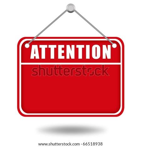 Attention blank board