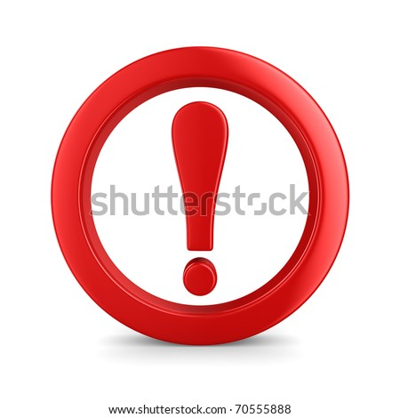 Attention. traffic sign on white background. Isolated 3D image - stock photo