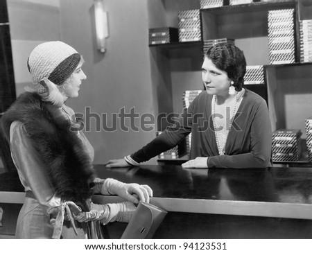 attentive clerk