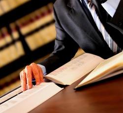 Attorney reading