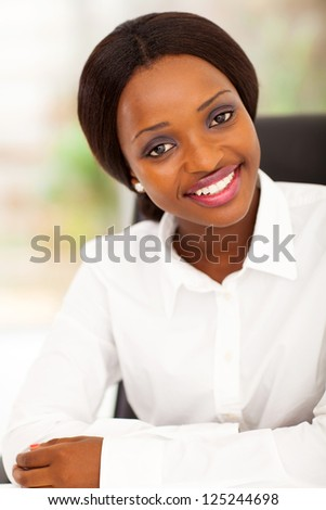 attractive african american office worker portrait