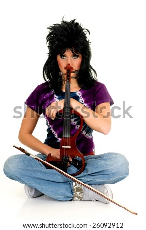 Attractive Alternative Punk Violinist - 31.7KB