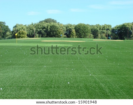 Attractive, and totally renovated golf driving range - stock photo