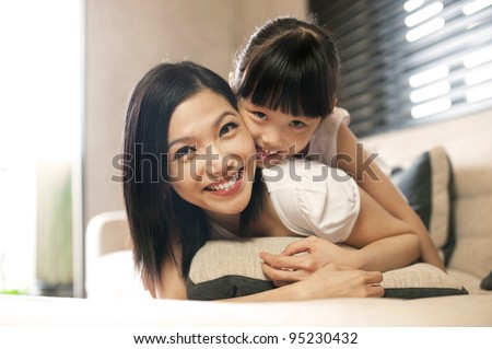 Attractive Asian Family