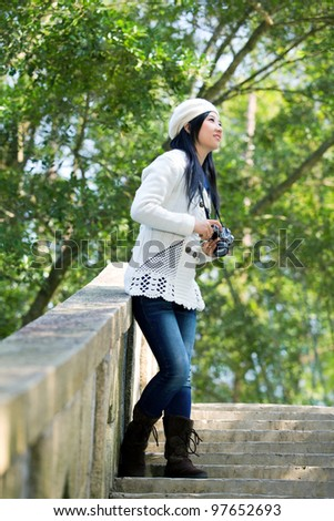 Attractive Asian Female on her travel