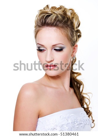 wedding hairstyle - isolated