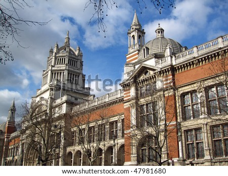 Attractive British Architecture at the Victoria and Albert museum in London