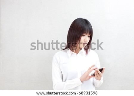 attractive business woman using cellphone