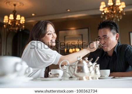 Attractive Couple in Cafe