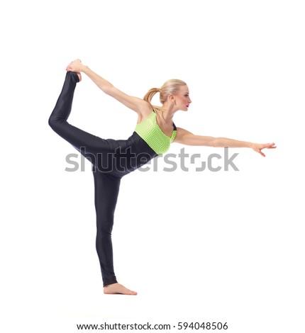 attractive female gymnast...