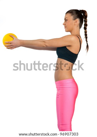 attractive fit woman exercise isolated