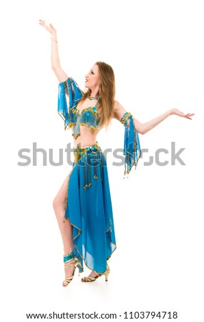 bb162ceffae3 Free photos A young ethnic belly dancer isolated on a white ...