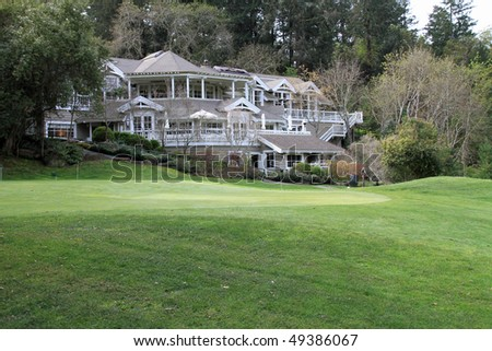 Attractive golf and dining setting in Napa Valley in Northern California