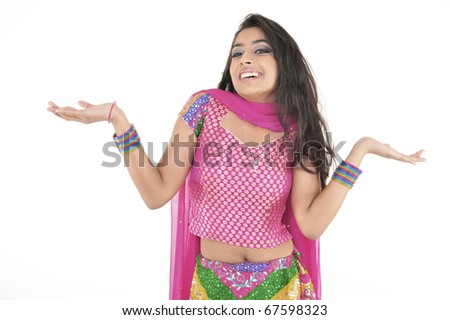 Attractive Indian Girl wearing Ethnic wear