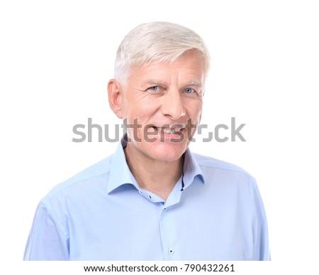 Attractive mature businessman on white background #790432261