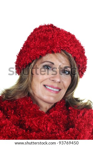 Attractive Middle Aged Woman dressed for Winter