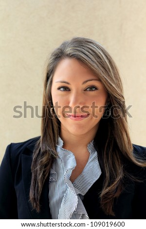 Attractive Professional Business Woman Smiling
