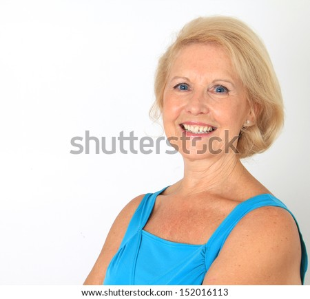 Attractive senior lady portrait