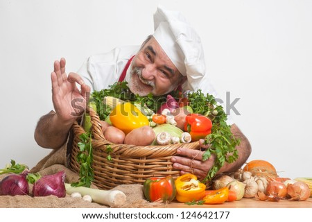 attractive smiling chef