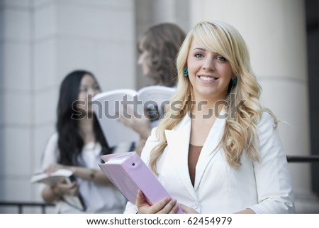 Attractive, Smiling Female College Student