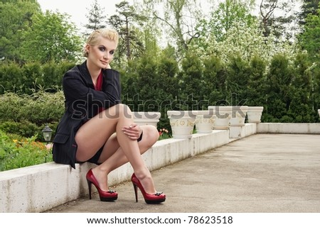 Attractive stylish woman outdoors