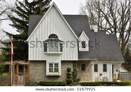 Attractive summer house with Canadian Flag