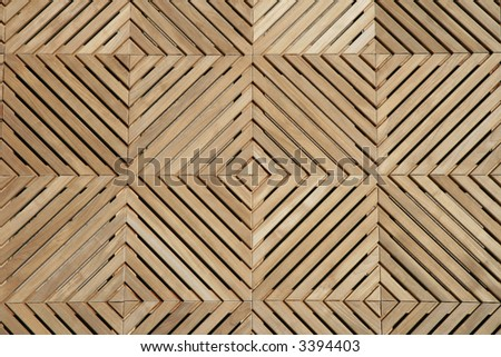 Attractive upscale Wooden Deck with Pattern - stock photo