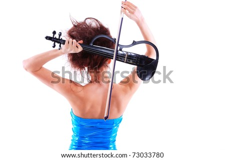 Attractive Violinist Playing The - 24.4KB