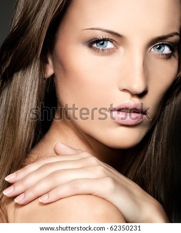 attractive woman close up  portrait #62350231