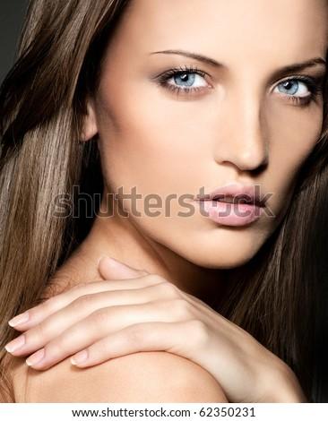 attractive woman close up  portrait #62350231