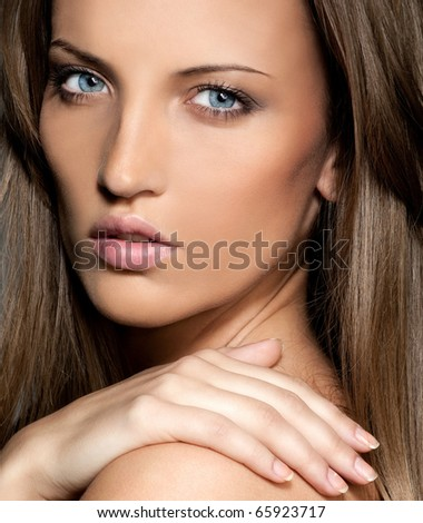 attractive woman closeup portrait