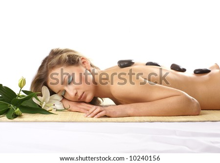 Lifestyle - Pagina 6 Stock-photo-attractive-woman-getting-spa-treatment-isolated-on-white-10240156