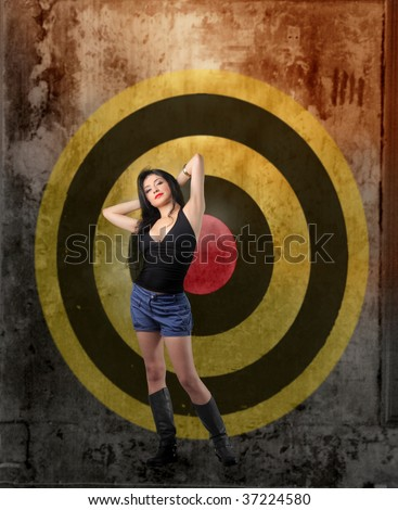 attractive woman in front of sight