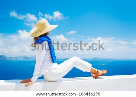 Attractive Woman Relaxing on Vacation - Shutterstock ID 106416290