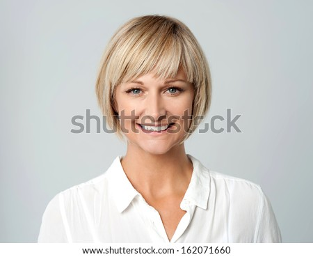 Attractive Woman With A Radiant Smile