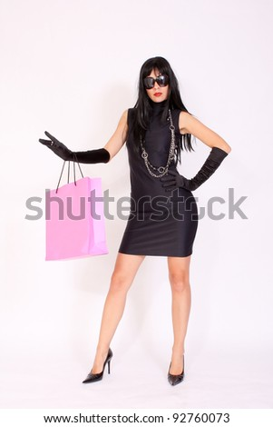 Attractive Woman With Shopping Bag
