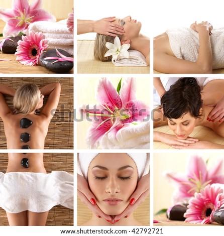 Attractive women getting spa treatment