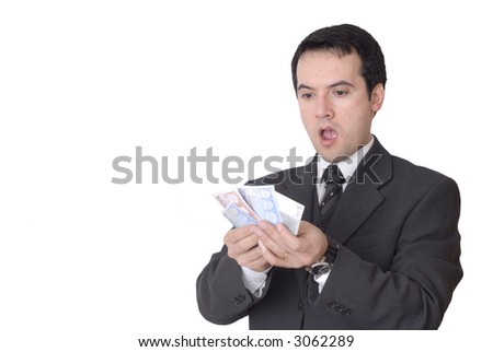 attractive young business man a over white background